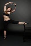 Yoga och kondition. Arkivfoton