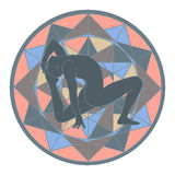 Yoga och mandala Royaltyfri Bild