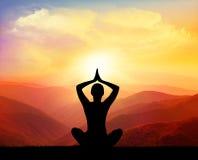 Yoga och meditation Arkivfoton
