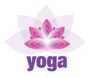 Yoga och meditation Lotus Flower Logo Arkivfoto