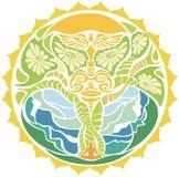 Yoga och meditation silhouette Royaltyfri Bild