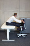 Yoga in office. Stock Photography
