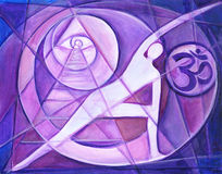 Yoga Ohm Royalty Free Stock Image