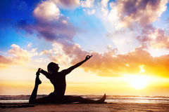 Free Yoga On The Beach Royalty Free Stock Photo - 34809535