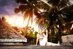 Free Yoga On The Roof In India Royalty Free Stock Photo - 25890655