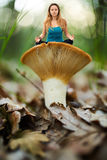 Yoga, one with the nature Royalty Free Stock Images