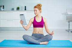 Yoga online Stock Photography