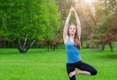 Yoga op de aard Stock Afbeelding