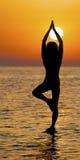 Yoga op het water Stock Fotografie