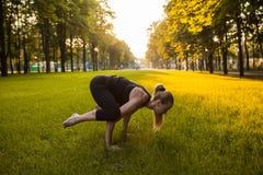 Yoga open air inner self-development sport Royalty Free Stock Photo