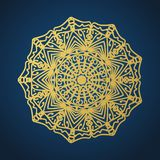 Yoga ornamental gold emblems biljna arabeska and mandala. Vector geometric symbols with typography. Graphic templates for relax or royalty free illustration