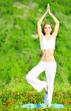 Yoga outdoor Stock Photography