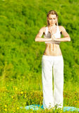 Yoga outdoor Royalty Free Stock Image