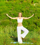 Yoga outdoor Stock Photos
