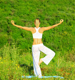 Yoga outdoor Royalty Free Stock Images