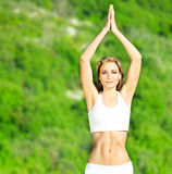 Yoga outdoor Royalty Free Stock Photography