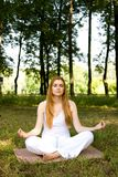 Yoga outdoor pose Stock Image