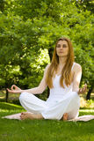 Yoga outdoor pose Royalty Free Stock Photography