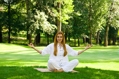 Yoga outdoor pose Stock Photo