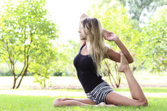 Yoga outdoor Stock Images