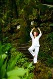 Yoga outdoors Stock Image