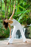 Yoga Outdoors Royalty Free Stock Photography