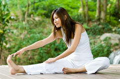 Yoga Outdoors Stock Photography