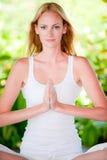 Yoga Outdoors Royalty Free Stock Photos