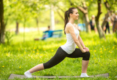 Yoga outdoors Stock Photography