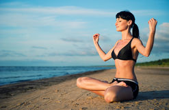 Yoga outside Stock Images