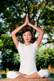 Yoga Outside Royalty Free Stock Photography