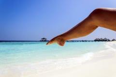 Yoga på stranden Royaltyfri Fotografi