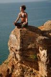 Yoga på vagga Arkivbilder