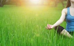 Yoga på naturen Arkivfoto