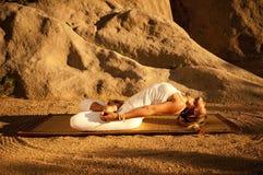 Yoga Padma Matsyasana Stock Image