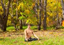 Yoga padmasana pose Royalty Free Stock Photo