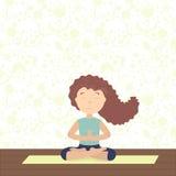 Yoga para el alma, el cuerpo y la mente ilustración del vector