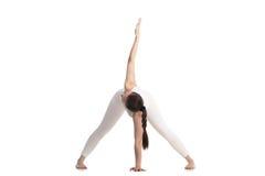 Yoga para la espina dorsal flexible Imagen de archivo