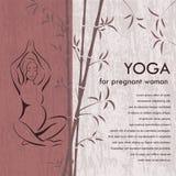 Yoga para la mujer embarazada Fondo Foto de archivo libre de regalías