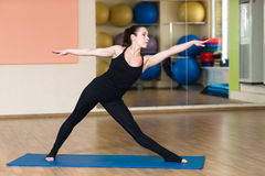 Yoga Parivrtta Trikonasana, Revolved Triangle Pose Royalty Free Stock Photo