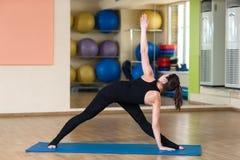 Yoga Parivrtta Trikonasana, Revolved Triangle Pose Stock Photography