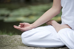 Yoga in park 24 Royalty Free Stock Image