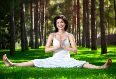 Yoga in the park Royalty Free Stock Photos