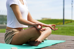Yoga in the park Stock Images