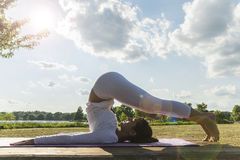Yoga in the park Stock Photography