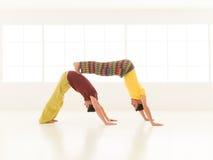 Yoga partner gym vibrant color Stock Images