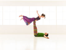 Yoga partners dance Stock Photos