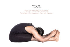 Yoga paschimottanasana pose Royalty Free Stock Photos