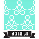 Yoga pattern. Yoga seamless background pattern graphic design. Simple Royalty Free Stock Images