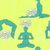 Yoga pattern Stock Photos